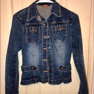 Jackets & Blazers - Dark denim jean jacket